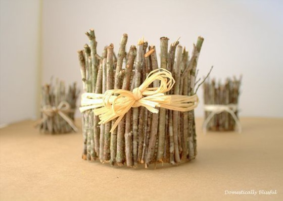 stick wrapped candles