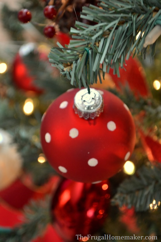 Red, Brown, and Metallic Christmas tree