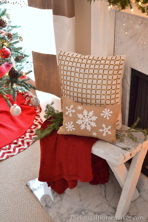Red and JOYful Christmas mantel