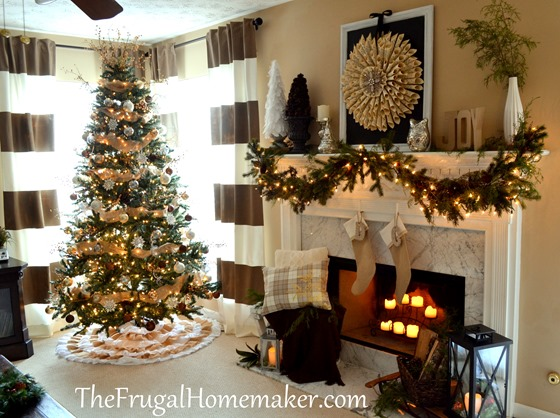 Burlap and natural Christmas