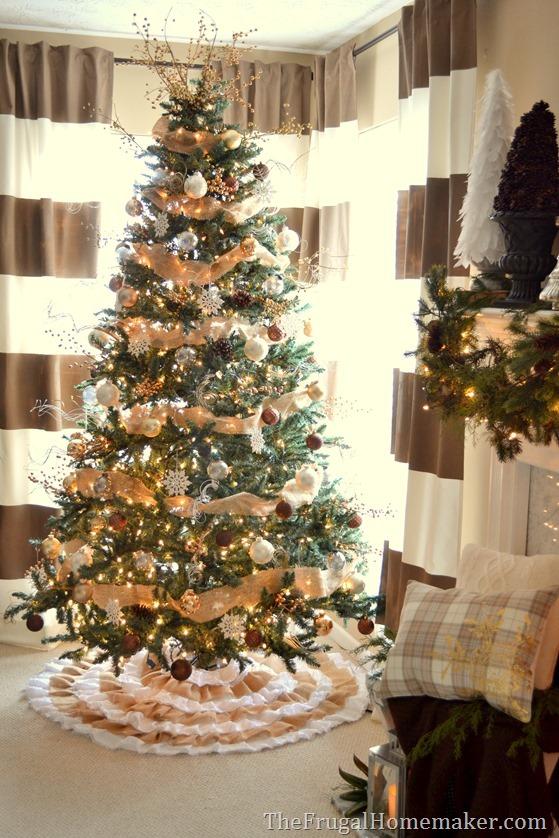 Burlap and natural Christmas