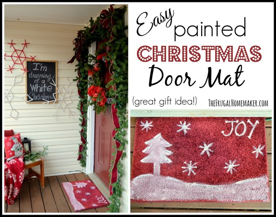 Beau Easy Painted Christmas Door Mat