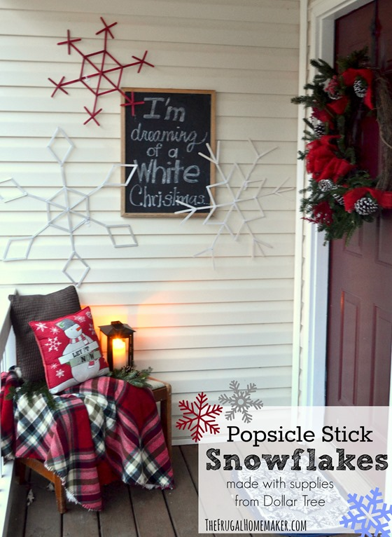 Popsicle Stick Snowflakes (+ enter to win a $100 Dollar Tree gift card!)