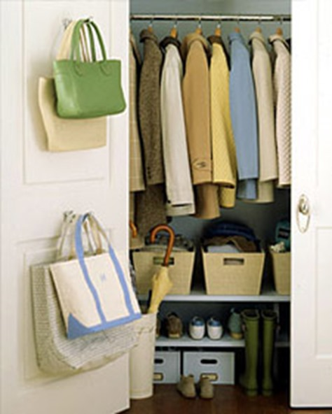 Foyer Closet Storage Ideas : Back of door storage ideas