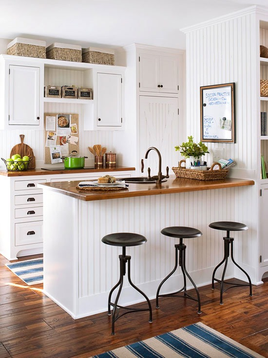 13. Use baskets and clipboards/white boards to add storage and function to a room without losing the beauty of the room.