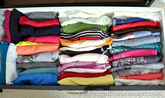 Organize your dresser drawers 10 simple frugal ideas to How to store clothes without a dresser