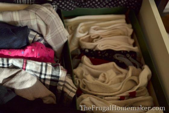 use shoeboxes to organize