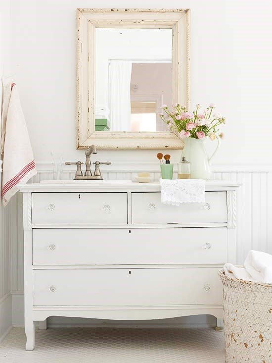 Dresser Turned Bathroom Vanity Tutorial: Organized Entryways And Repurposed Dressers