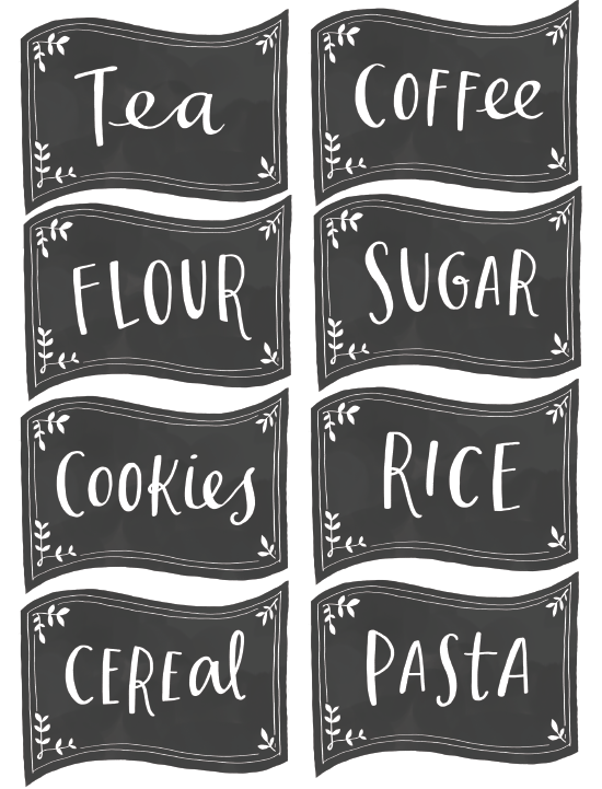 free pantry labels