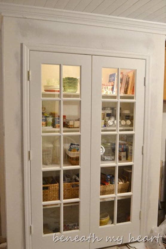 glass doors on pantry