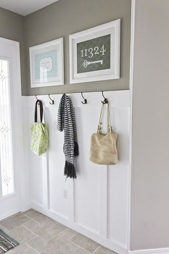 hooks in entryway