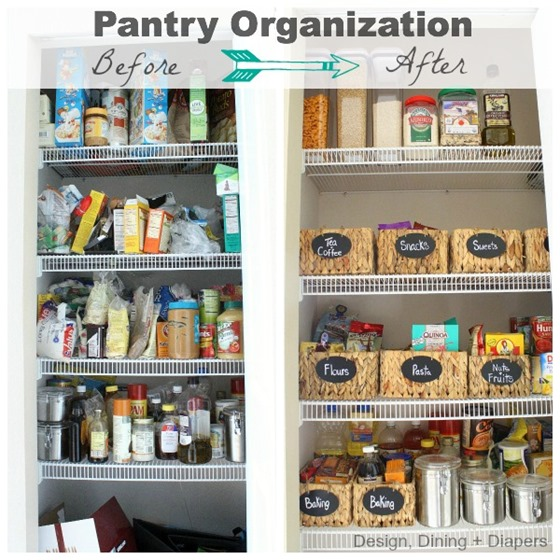 organized with baskets