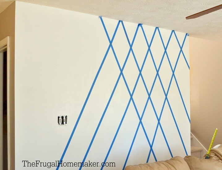 how to paint a diamond accent wall with scotchblue tape - Color Pattern For Walls