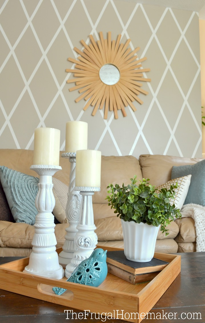 how to paint a diamond accent wall using scotchblue painter s tape