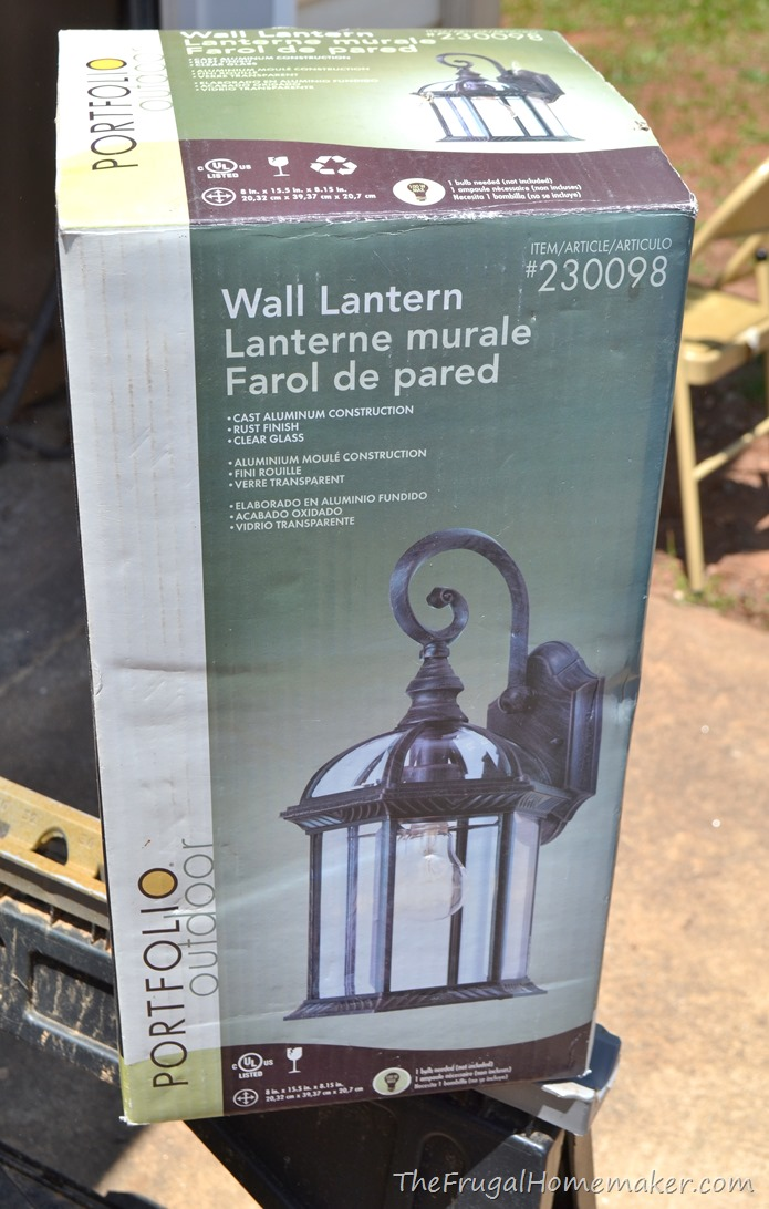 outdoor light fixture changeup