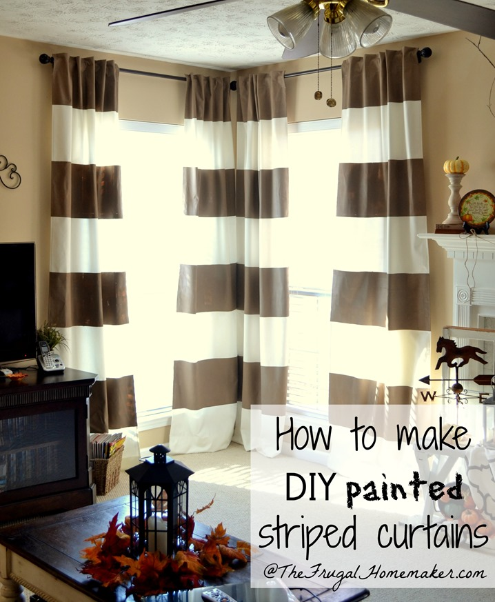 No-sew, Inexpensive, Long Curtains Made From SHEETS