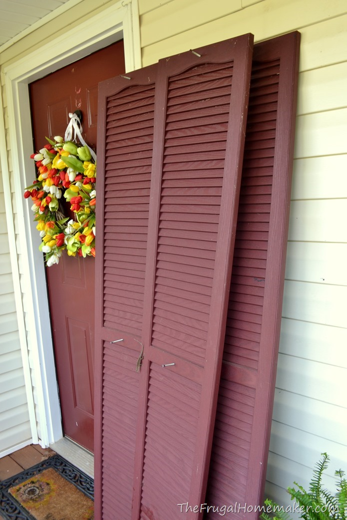 shutters and door painted black