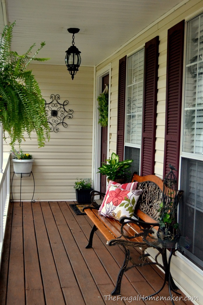 Front Porch Makeover Decorated For Summer In Red White