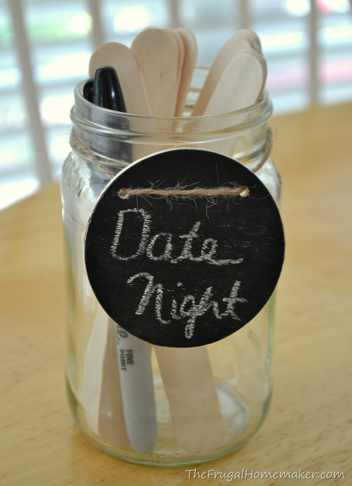 Bridal date night jar for shower
