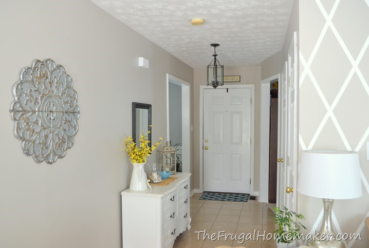 Entryway before and after beige to greige with behr paint for Best grey beige paint color