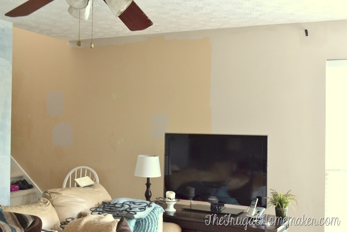 new paint in living room - Wheat Bread by Behr