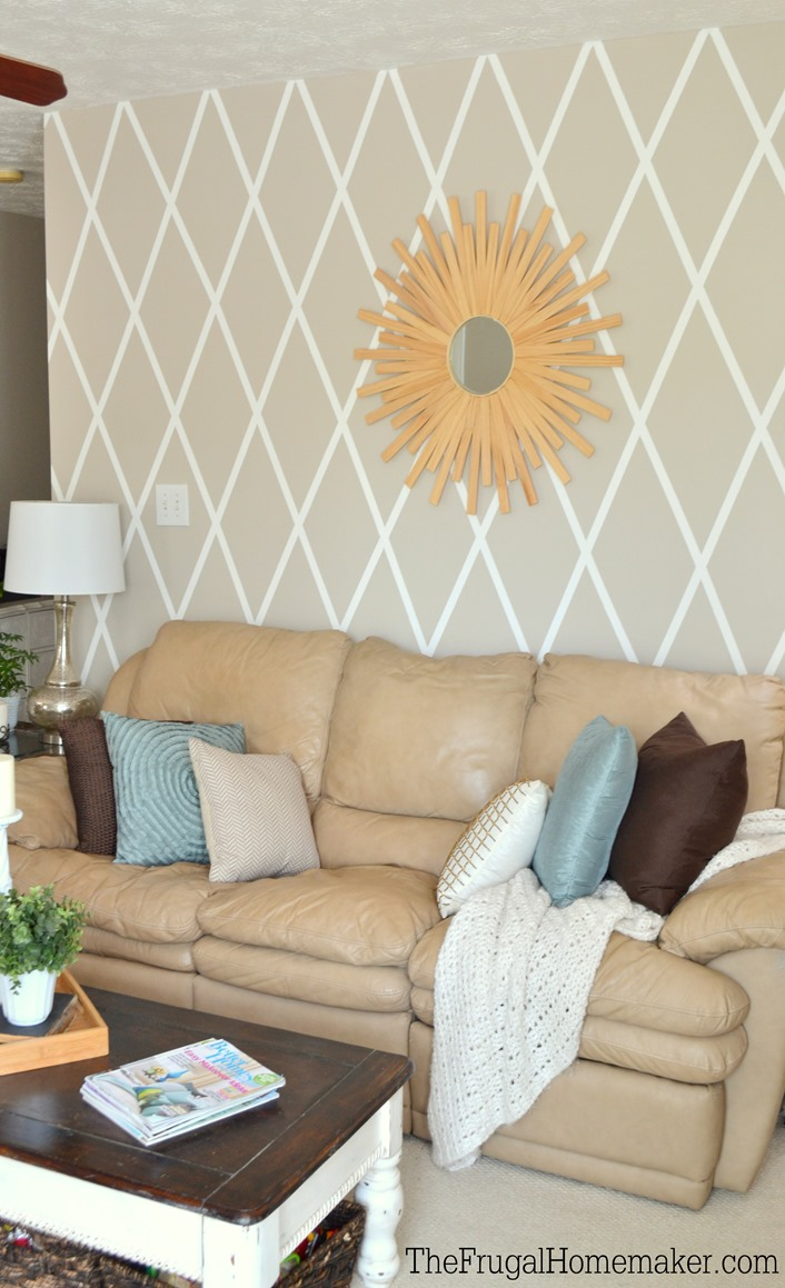 painted diamond accent wall