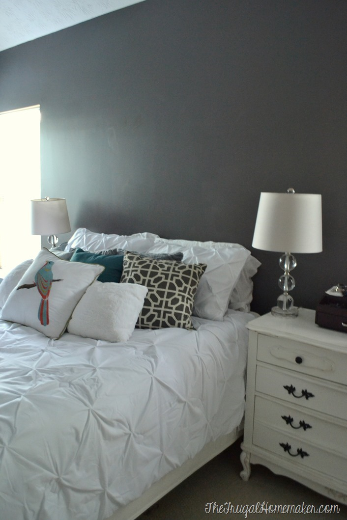 New paint in Master Bedroom – Magnet by Behr Marquee (and a fun announcement!)