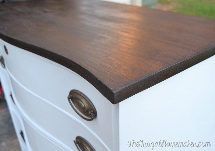 Well-liked Dresser makeover (how to fix chipped veneer + deal with wood stain  GO68
