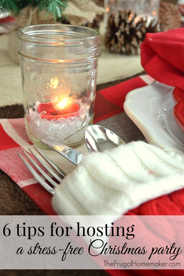 6 tips for hosting a stress-free Christmas party (Day 21 of 31 days to take the Stress out of Christmas)