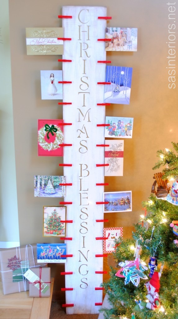 Creative Christmas card display–turn clutter into decorations (Day ...