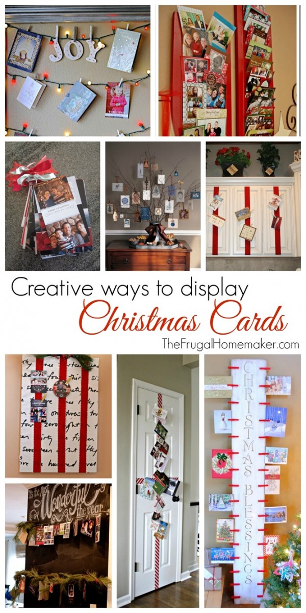 Creative Christmas card display–turn clutter into decorations (Day 20 of 31 days to take the stress out of Christmas)