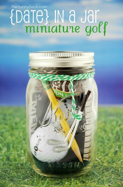 Mini Golf Date In A Jar