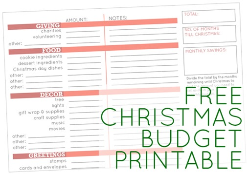 Set a Christmas budget (Day 3 of 31 days to take the Stress out of ...