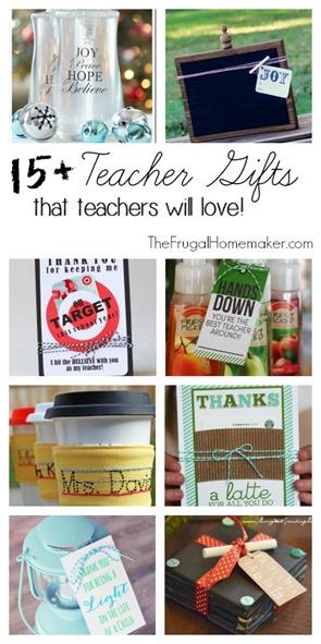 15  Teacher Gifts that teachers will love!