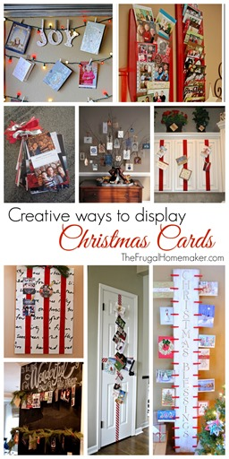 Creative ways to display Christmas cards