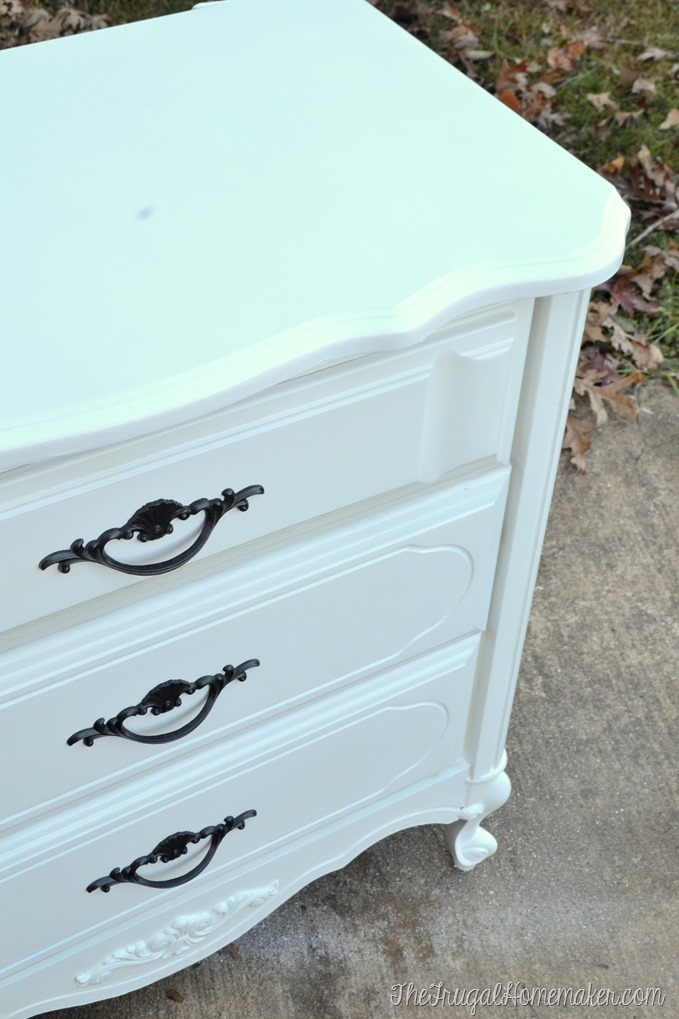 painted white french provincial nightstand