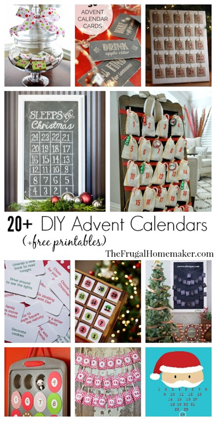 Diy Calendar Christmas : Diy christmas countdown calendar advent