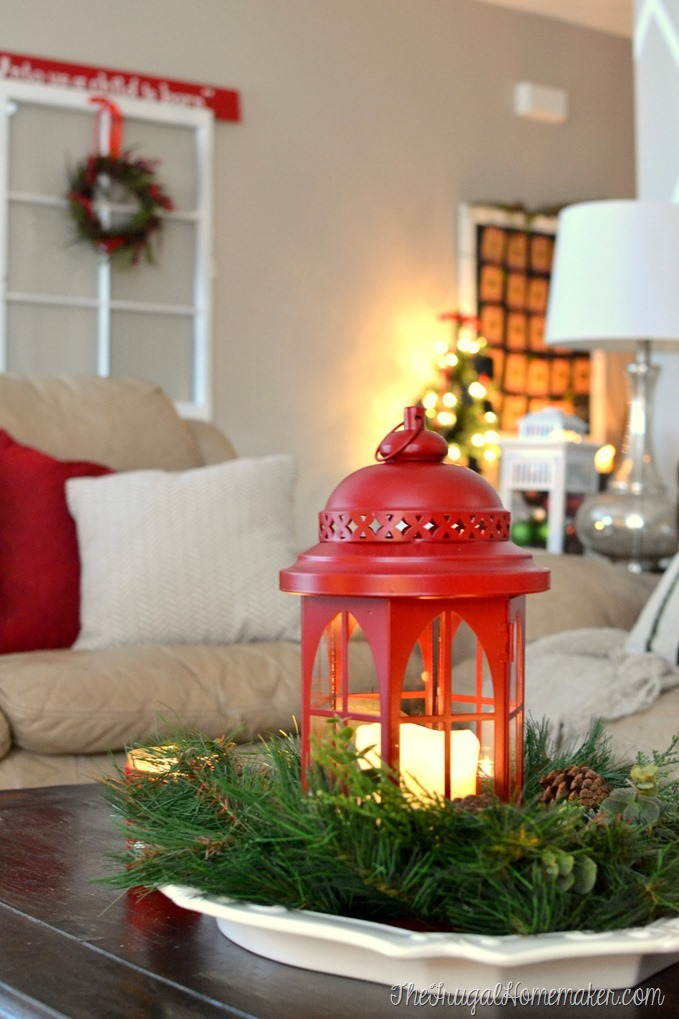 Christmas decorating with old windows