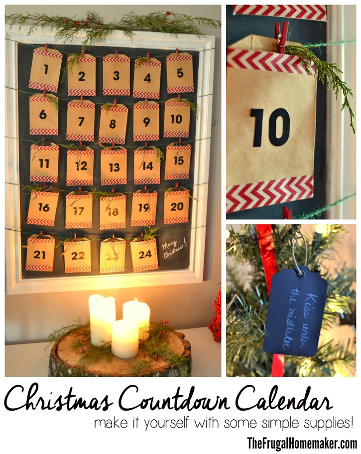 Diy Calendar Countdown : Diy christmas countdown calendar advent