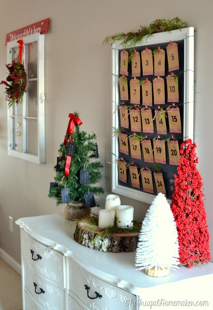Diy christmas countdown calendar advent calendar for Diy christmas advent calendar ideas