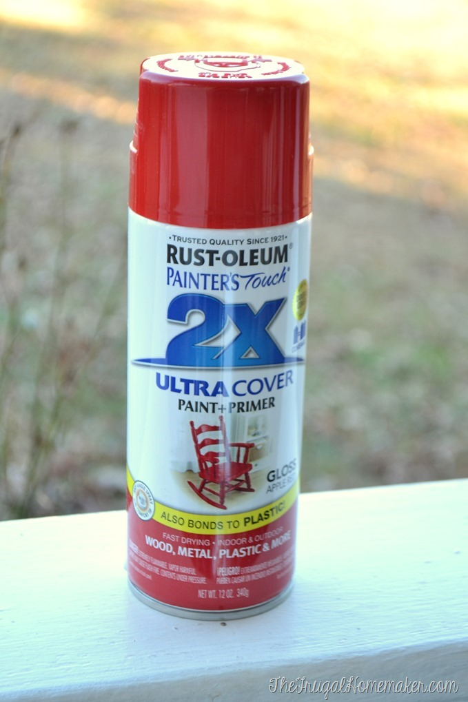 Rustoleum Apple Red spray paint