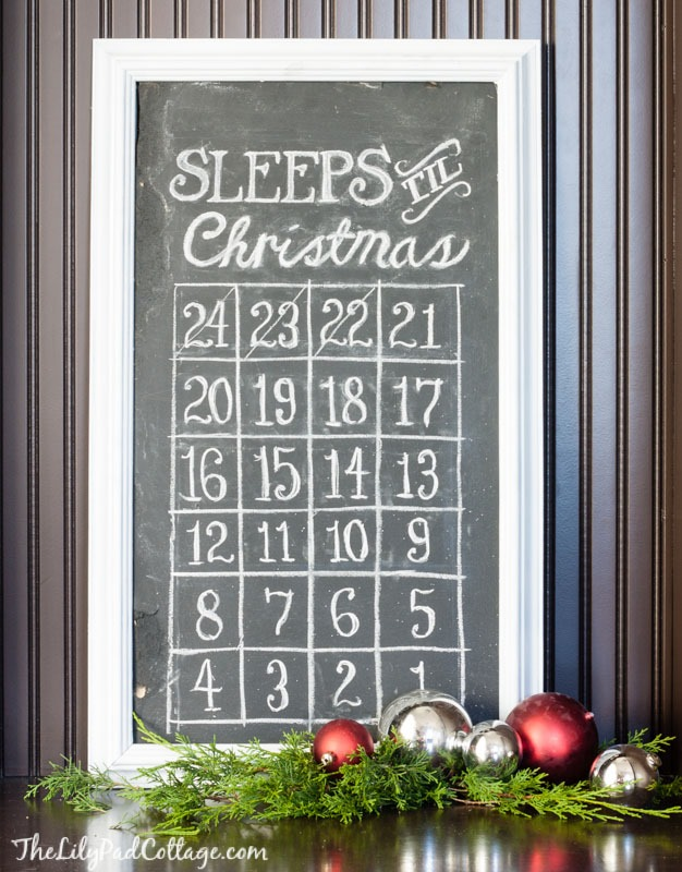 christmas-countdown-advent- chalkboard