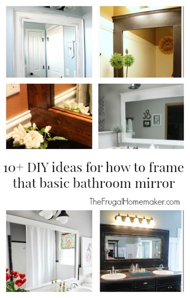 Merveilleux 10 DIY Ideas For How To Frame That Basic Bathroom Mirror