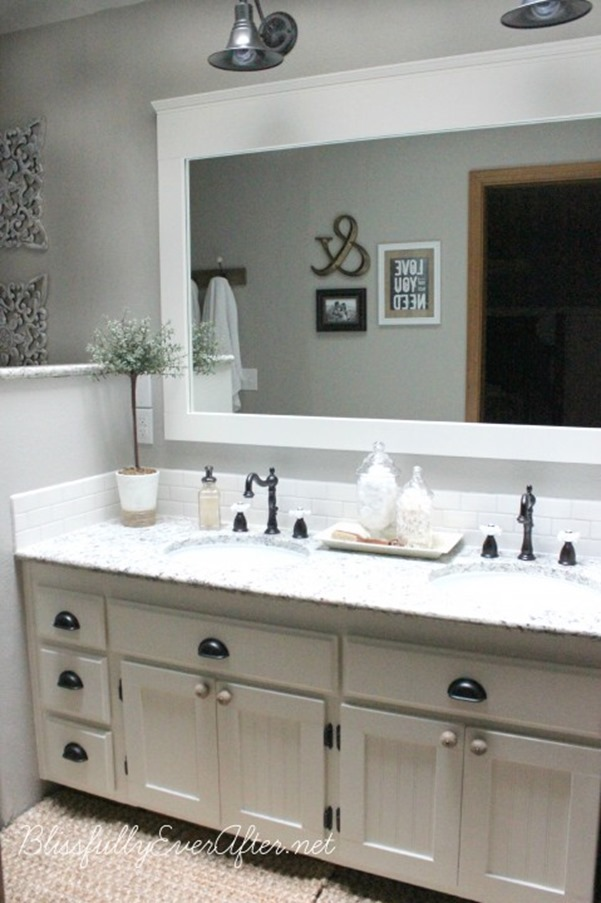 Bathroom Mirrors Farmhouse 10+ diy ideas for how to frame that basic bathroom mirror