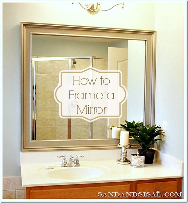 how to frame a mirror diy