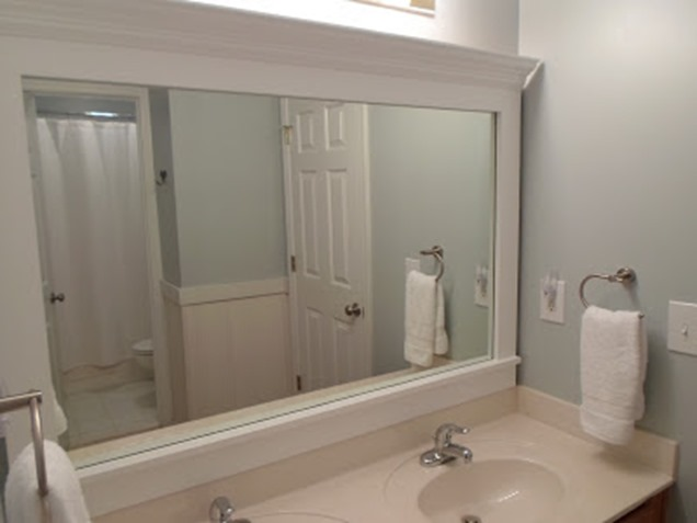 White Frame Bathroom Mirror 10+ diy ideas for how to frame that basic bathroom mirror