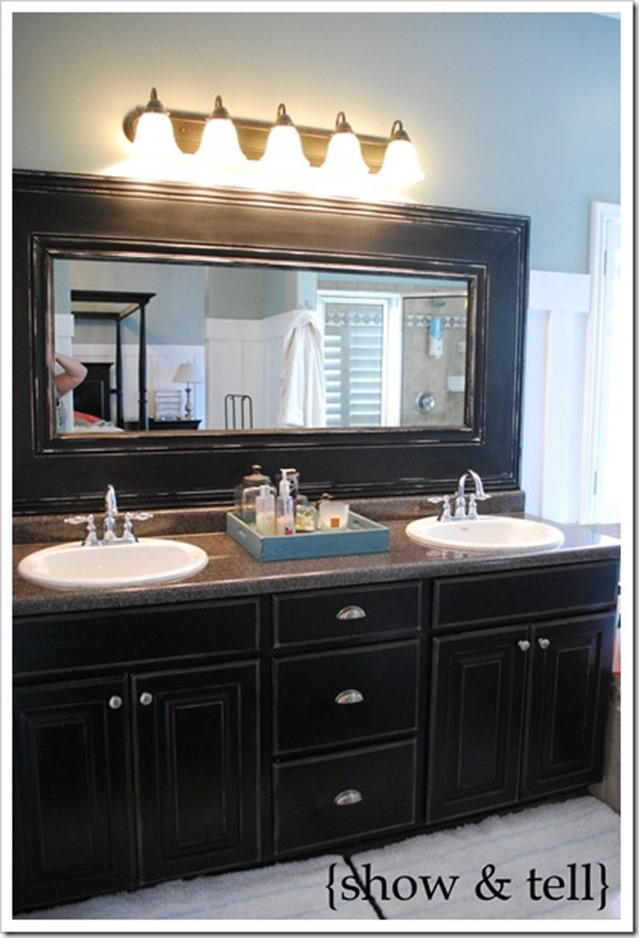 Thick Bathroom Mirror Frame