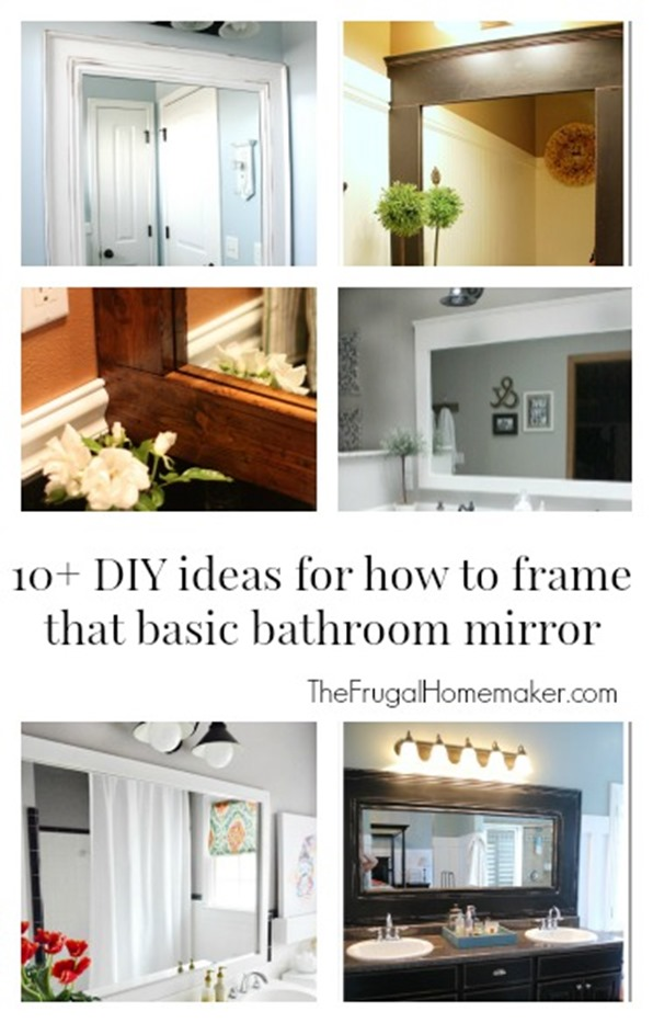 Bathroom Mirror Diy how to frame out that builder basic bathroom mirror (for $20 or less!)