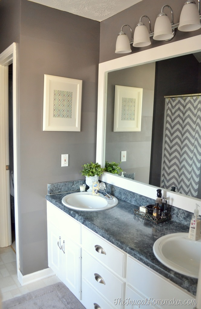 Charming How To Frame Out That Builder Basic Bathroom Mirror (for $20 Or Less!)
