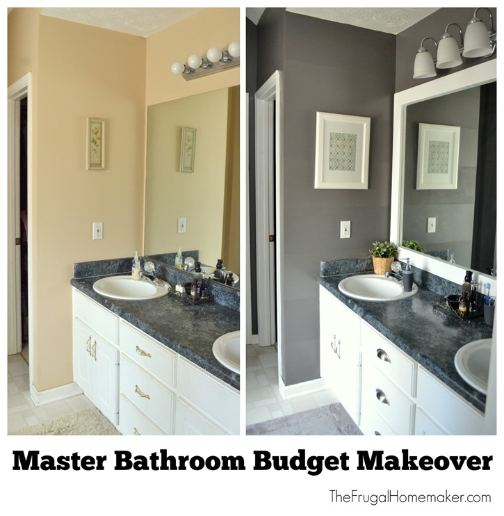 Master bathroom budget makeover for Master bathroom on a budget